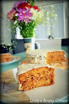 Rody's Healthy Carrot Cake   #justeatrealfood #rodysheartycorner