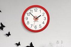 Free Wall Clock Logo Branding Mockup