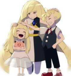 lillie, Lusamine, and Gladion