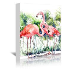 Americanflat Flamingos 3 (16 x 20), Red scarlet