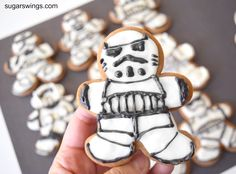 Sugar Swings! Serve Some: Day 10 Star Wars Trooper Gingerbread Men Cookies #12daysofStarWars