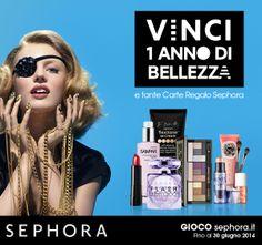 Vinci 1 anno di bellezza e tante Carte Regalo Sephora : http://www.gioco-sephora.it