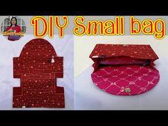 #DIY Small bag Diy sewing tutorial Ring handle bag สอนเย็บกระเป๋าผ้าขนาดเล็กฟรี รัชนี - YouTube Sewing Hacks, Sewing Tutorials, Wallet Sewing Pattern, Sew Wallet, Simple Wallet, Pouch Tutorial, Handmade Purses, Bag Patterns To Sew, Fabric Bags
