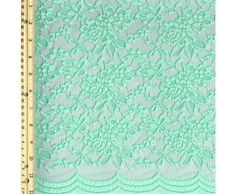 Green Mint Scallop Lace Fabric By the Yard - Adele - Scallop Lace Fabrics - Lace Fabrics  They have all different colors, over at stylishfabric.   Do you you lace fabrics?