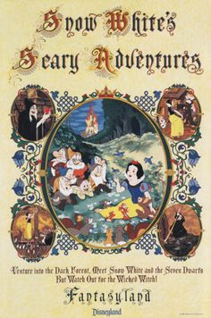 #Disney_Attraction_Posters #FANTASYLAND #Snow_Whites_Scary_Adventures