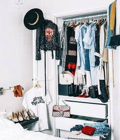Study up on the best wardrobe edit tips for refreshing your closet and saying goodbye to clutter.
