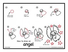 Simple step by step instructions on how to draw an angel. Watch the short fun video and download the free step by step.