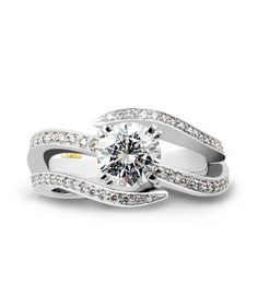 Shimmer Engagement Ring - Mark Schneider Design