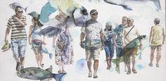 "Saatchi Art Artist Sabina Sinko; Painting, ""passers - by S1"" #art"