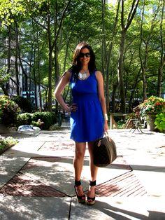 The Avenue Vee: Little Blue Dress