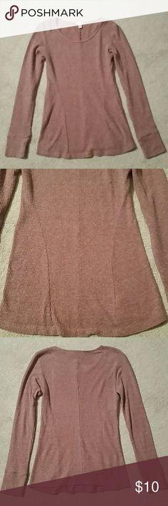 BP thermal long sleeve top BP  (nordstrom) rose colored thermal long sleeve top. Worn once. Like new. BP Tops Tees - Long Sleeve