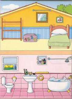 Partes de la casa Habitación y baño.