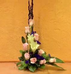 By: Gordon Lee Funeral Floral Arrangements, Spring Flower Arrangements, Vase Arrangements, Beautiful Flower Arrangements, Spring Flowers, Altar Flowers, Tall Flowers, Church Flowers, Beautiful Flowers