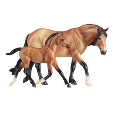 This adorable mealy bay dartmoor pony and light bay foal is the perfect way to get your Breyer stable started! Classics are 1:12 Scale, with hand-painted details and all the quality you expect from Br