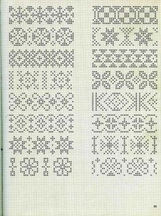 Embroidery stitches border fair isles 57 new ideas Cross Stitch Bookmarks, Cross Stitch Borders, Crochet Borders, Cross Stitch Charts, Cross Stitch Designs, Cross Stitch Embroidery, Cross Stitch Patterns, Fair Isle Knitting Patterns, Knitting Charts