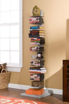 Tower for storing books, magazines, movies, or decorative items