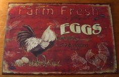 Farm Kitchen Decor on Primitive Fresh Eggs