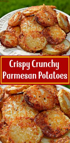 Crispy crunchy parmesan potatoes weightwatchersrecipes smartpointsrecipes weightwatchers weight_watchers healthy skinny_food recipes smartpoints parmesan 101 easy dinner recipes that start with broth Potato Recipes, Vegetable Recipes, Vegetarian Recipes, Cooking Recipes, Healthy Recipes, Healthy Food, Recipes With Potatoes, Vegetarian Appetizers, Cooking Videos