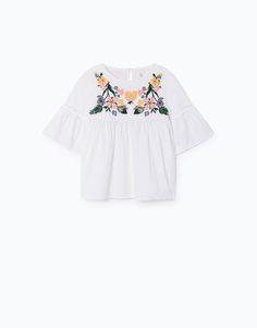 Lefties - camisa bordado floral - 0-150 - 05912101-I2017