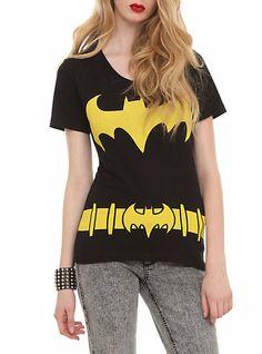 hot topic clothes for girls | DC Comics Batman Costume V-Neck Girls T-Shirt | Hot Topic on Wanelo