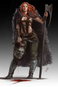 1 1 6 Barbarianchick by bluejustina on DeviantArt