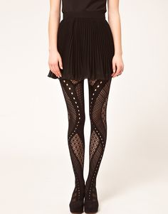 gipsy net panel tights, from asos