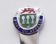 Collector Souvenir Spoon Canada Saskatchewan Fort Qu'Appelle Coat of Arms Emblem