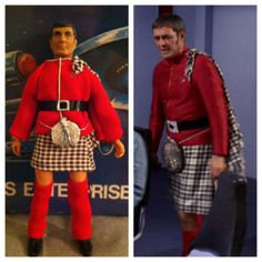 Star Trek Mego Vintage Custom Scotty in Dress Uniform - Mr. Scott