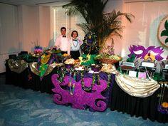 mardi gras themed wedding | South Florida Cajun New Orleans Bourbon Street Style Catering Miami ...
