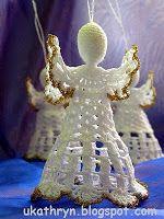 Przyjemność tworzenia The joy of creating: Szydełkowy anioł (wzór)/Crochet angel pattern