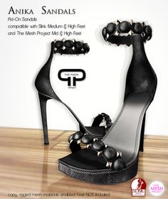 Pure Poison - Anika Sandals - Ad-Ons for SLINK and TheMesh Project Medium and High Feet | Flickr - Photo Sharing!