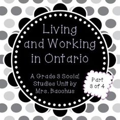 This is Part 4 of a unit that is based on the new Ontario Social Studies Curriculum for Grade I have split the unit into 4 parts: Part Municipalities in Ontario Part Geographic Regions of Ontario Part Land Use in Ontario Part Culminating Task and Quiz . Social Studies Curriculum, Social Studies Classroom, Teaching Social Studies, Primary Science, Primary Teaching, Teaching Resources, Teaching Ideas, Ontario, Grade 3