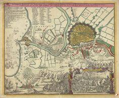 Mapy i plany, Gdańsk - 1734 rok, stare zdjęcia