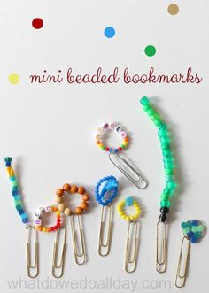 Super cute mini bookmarks! Plus, awesome chapter books to use them with.