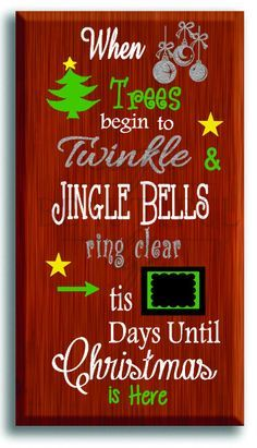Countdown To Christmas Sign.42 Best Days Till Christmas Signs Images Christmas Signs