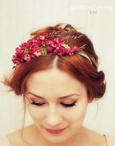 flower hair pieces.