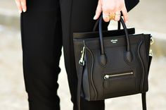 mini black #bag :: Nano Luggage by #Celine