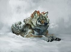 Wolf sketch with video on Behance