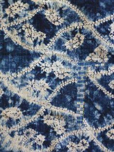 shibori boro - indigo palette