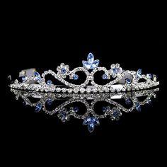 3cm High Wedding Prom Blue Crystal Tiara Headband  $5.oo