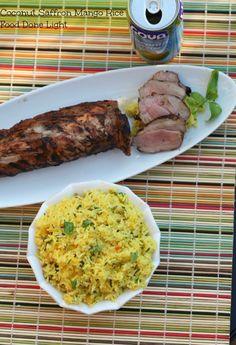Coconut Saffron Mango Rice Food Done Light #ricerecipe #recipecoconut #ricecoconut