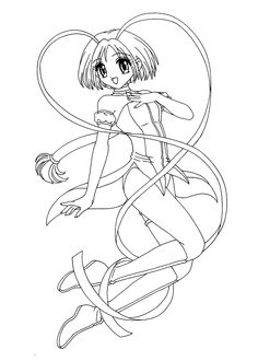 Letucce from Mew-mew coloring pages for kids, printable free