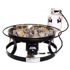 Camp Chef W Black Steel Steel Fire Pit at Lowe's. Gather around to a warm and fun evening with this gas fire pit. Liquid propane provides a steady burn and plenty of warmth, so you can enjoy cozy flames Portable Fire Pits, Steel Fire Pit, Camp Chef, Outdoor Rocking Chairs, Fire Glass, Gas Fires, Backyard, Patio, Black