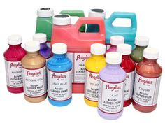 Angelus Acrylic Leather Paints are the premier shoe paints on the market - works on vinyl too!