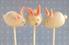 Easter Bunny Cake Pops by kellbakes for Baking911, via Flickr