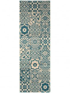 Läufer Patchwork-Mosaico Blau