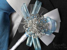 Etsy の Silver Buttonhole Wedding Buttonhole by BouquetsbyChloe