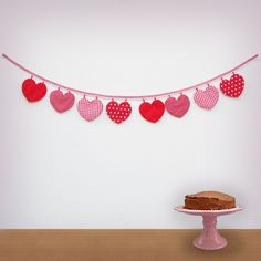 Hey, I found this really awesome Etsy listing at http://www.etsy.com/listing/111797492/handmade-heart-fabric-garland