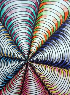 """From exhibit """"Sixth Grade Op Art"""" by (Art ID from Lincoln Elementary School— grade 6 Love the shading School Art Projects, Art School, Illusion Kunst, Optical Illusion Art, Optical Illusions For Kids, 6th Grade Art, Sixth Grade, Creation Art, Ecole Art"""