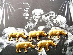 Rhino Stampings  Rhinoceros Charm Lot  Raw by 2VintageGypsies